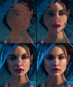 Barbara Palvin - Colour Study Process by AaronGriffinArt.deviantart.com on @DeviantArt