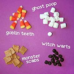 Cute ideas for kids Halloween party.