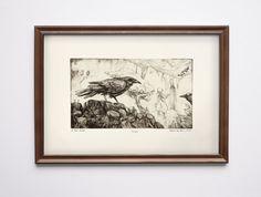 The Seven Ravens original etching print by BarbaraBernat on Etsy