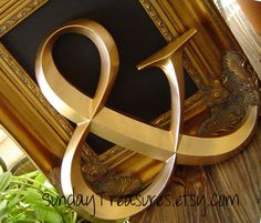 GOLD Ampersand. AND Symbol Graphics Sign. by SundayTreasures, $23.00