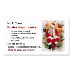 business sweet massage santa