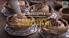 ALDI Receptek - Cookie-Cups Nutoka krémmel Cookie Cups, Muffin, Cookies, Breakfast, Food, Crack Crackers, Morning Coffee, Biscuits, Essen