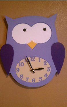 Owl Clock - Paint Your Own love this guy. he'd go perfectly in our room