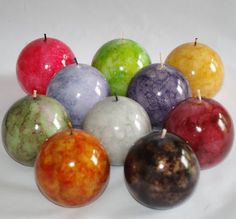 Details about Ball Candles Marble Effect Pack of Two - Craft Ideas Candle Pics, Candle Art, Marble Ball, Marble Candle, Diy Candles With Crayons, Essential Oil Candles, Essential Oils, Candle Making Supplies, Marble Effect