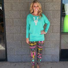 Trippy Triangles: Leggings www.privityboutique.com #style #privityboutique #leggings #fall #aztec #leopard