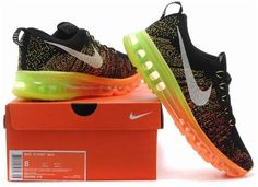 watch 3ef86 b391c Nike Air Max 2014 Flyknit Orange Black Grey Green1 All Nike Shoes, Nike  Shox Shoes