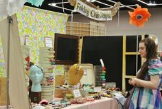 craft show booth. craft fair. crafty wonderland booth. craft display.