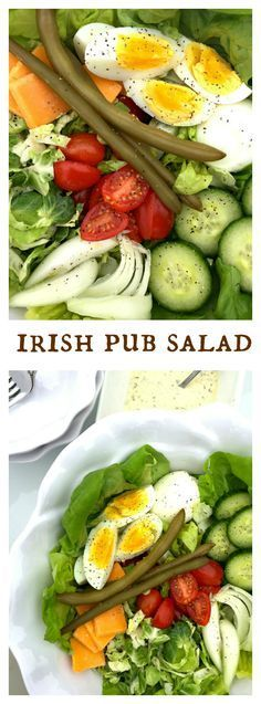 Irish Pub Salad for St. Patrick's Day                                                                                                                                                      More
