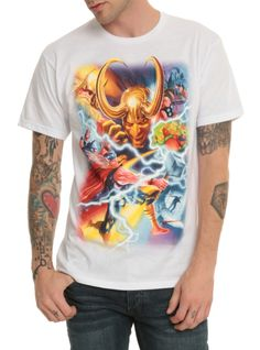 White T-shirt from Marvel featuring art by Alex Ross.