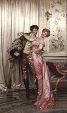 """""""Embrace"""" Frederic Soulacroix. Not period but actually a genre painting from 1900s."""