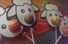 Cute Christmas Sheep Craft with Bible Verse and Chupa Chups