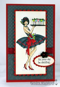 Martini Girl by kendra - Cards and Paper Crafts at Splitcoaststampers Girl Birthday, Birthday Cards, Crafters Companion Cards, Scrapbook Cards, Scrapbooking, Card Companies, Frou Frou, Penny Black, Pretty Cards