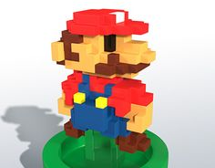 """Check out new work on my @Behance portfolio: """"Super Mario Bros 8 bit"""" http://on.be.net/1YNc8mg"""