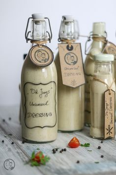 Universal Salat Dressing Dips, Vodka Bottle, Recipes, Foodblogger, Spreads, Foodies, Bbq, Chic, Desserts