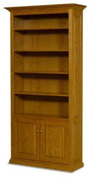 Amish bookshelf each side of fireplace