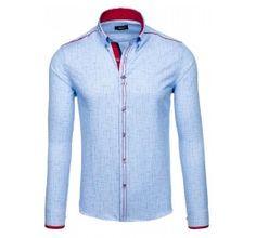 Pánská stylová košile - Fredrick, modrá se vzorem | TAXIDO fashion Shirt Dress, Mens Tops, Shirts, Dresses, Fashion, Moda, Shirtdress, Vestidos, Fashion Styles
