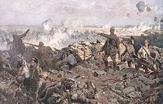 The Second Battle of Ypres was a First World War battle fought for control of the strategic Flemish town of Ypres in western Belgium in the spring of 1915, following the First Battle of Ypres the previous autumn. It marked the first time that Germany used poison gas on a large scale on the Western Front. .