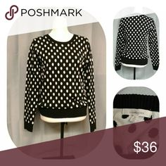 41 Hawthorne sweater size medium Beautiful 41hawthorn Gideon polka dot sweater size medium black and cream in color measurements laying flat armpit to armpit 19 inches length from shoulder down is 27 inches sleeve length from shoulder down is 24 inches 41 HAWTHORN Sweaters