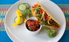 Lunch/Dinner: Epicure's Take 5 Tacos (210 calories/serving) serve with sliced veggies