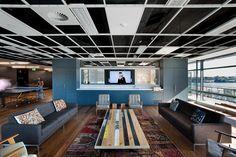 Image 148: Deconstructed ceiling. Leo Burnett's Recreation Room. Ceiling, eclectic furniture
