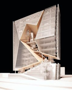 Maquette by Luis Sabater Musa University of cincinnati. Architecture Design, Architecture Portfolio, Facade Design, Concept Architecture, Contemporary Architecture, Amazing Architecture, Design Architect, Schematic Design, Schematic Drawing