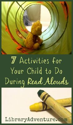 7 Activities for Your Child to Do During Read Alouds...just because they aren't sitting with the group doesn't mean they aren't listening!
