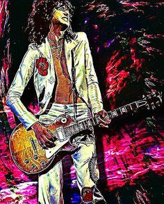 Jimmy Page (Led Zeppelin) by Juanca Ravelo.