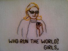 Hillary Clinton Tumblr Needlepoint by partsandlabor on Etsy, $20.00
