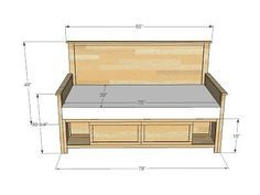 Diy Full Size Daybed Plans - Hailey Storage Daybed With Back And Arms Daybed With Storage Stacy Daybed Diy Daybed Home Diy Furniture Plans Ana White Day Bed Diy Projects Queen Siz. Do It Yourself Furniture, Diy Furniture Plans, Furniture Projects, Kids Furniture, Furniture Design, Furniture Stores, Luxury Furniture, White Furniture, Office Furniture