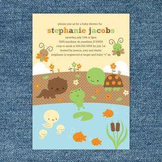 Pond Animals Baby Shower Custom Printable by stockberrystudio, $10.00