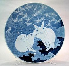 "Large Japanese Imari ""sometsuke ozara"" (blue and white porcelain charger)"