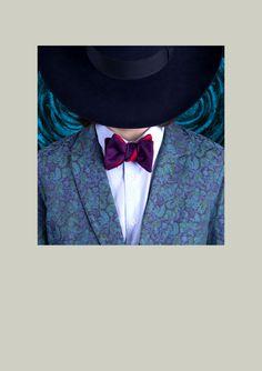 CINABRE - Bow Tie - Peau Violet - Hand Made
