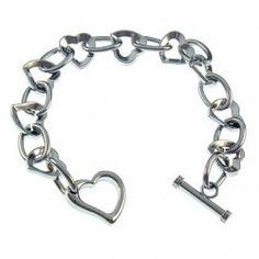 Fashion bracelet Chains,Heart Toggle 7.5 inch - $0.99 : GotoBeads.com, Wholesale Beads,beaded Jewelry Supplies in bulk