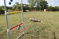 Lawn games on the buffalo grass lawn! Dyck Arboretum of the Plains