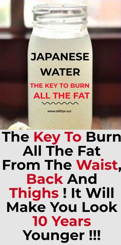 recipes for weight loss Only Japanese Water Can Burn All Fat From Thighs, Waist And Back & Make You Look 10 Years Younger! Fat Bombs, Chocolate Chip Cookies, Diabetes, Full Body Detox, Body Cleanse, Japanese Water, Natural Detox Drinks, Ginger Water, Fat Burning Detox Drinks