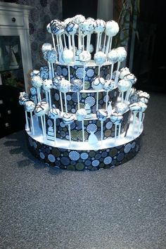 My Mom And I Made This For Cousins Wedding Cake Pop Stand