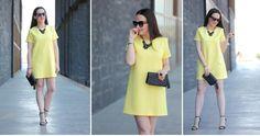 Vestido amarillo, ¡una idea para combinarlo en cualquier ocasión!