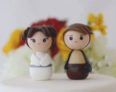 Wedding cake toppers Princess Leia Han Solo Made to order
