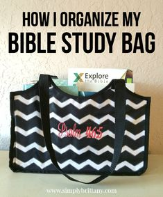 Blog on How She Organizes Her Bible Study Bag.  I have a slightly different setup, but I'm pinning because I think the idea of a bible study bag is an excellent one.  Watch for MY REFLECTION on this topic soon.