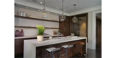 Light Contemporary Bar - Home and Garden Design Ideas