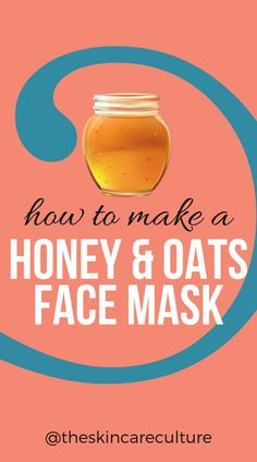 3 Homemade Honey Face Masks For Glowing Skin - How to make a honey and oats face mask! Lemon Face Mask, Honey Face Mask, Honey Masks, Homemade Facial Mask, Face Scrub Homemade, Oats Face Mask, Honey Facial, Skin Detox, Uneven Skin Tone
