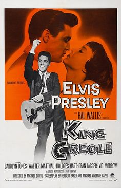 Directed by Michael Curtiz. With Elvis Presley, Carolyn Jones, Walter Matthau, Dolores Hart. A rebellious young man takes a job as a nightclub singer to make ends meet, attracting the attention of a local crime boss. Carolyn Jones, Musica Elvis Presley, Elvis Presley Movies, Walter Matthau, Classic Movie Posters, Classic Movies, Rock And Roll, Dolores Hart, King Creole