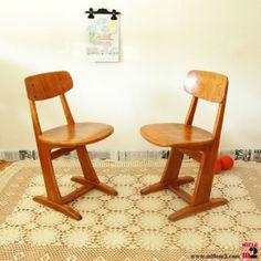 Chaise enfant vintage Casala des années 60 - Mille m2 www.millem2.com