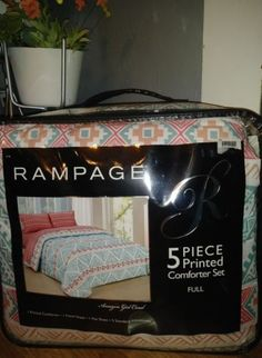 c21a0e1bcfdbd6 RAMPAGE amazon girl coral 5 pc comforter sheets bedding tribal turquoise  full