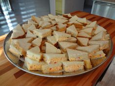 Pimento Cheese Sandwich Quarters – CATERING BY DEBBI COVINGTON   www.cateringbydebbicovington.com Pimento Cheese Sandwiches, Pimiento Cheese, Cheese Sandwich Recipes, Recipe Of The Day, Baby Shower, Entrees, Catering, Menu, South Carolina