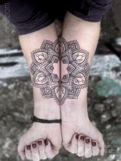 Chaim Machlevs black geometric tattoos