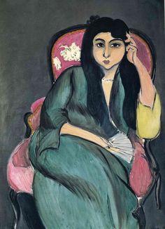 Анри Матисс. Лоретта в зеленом на розовом стуле