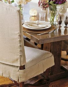 chair pad with monogrammed slipcoverfrench laundry home at