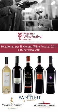 """""""FARNESE GROUP"""" PASSA LE SELEZIONI PER IL """"MERANO WINE FESTIVAL"""" con ben tre aziende del gruppo - """"Vigneti del Vulture"""", """"Fantini"""" and """"Vigneti del Salento"""" – e cinque vini della sua produzione.  """"FARNESE GROUP"""" SELECTED BY """"MERANO WINE FESTIVAL"""" with three companies, """"Vigneti del Vulture"""", """"Fantini"""" and """"Vigneti del Salento"""" – and five wines of its production. #Farnesevini, #vino, #wine, #vin, #vinoitaliano, #italianwine, #vinitalien, #Farnese, #Meranowinefestival"""