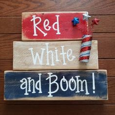 Excited to share the latest addition to my shop: Red. And Boom! et… - wanderlust 4th July Crafts, Fourth Of July Decor, 4th Of July Celebration, 4th Of July Decorations, 4th Of July Party, July 4th, Americana Crafts, Patriotic Crafts, Patriotic Party